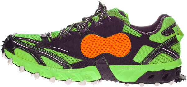 large image of Peanut running shoe